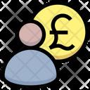 Pound Manager Banker Finance Manger Icon