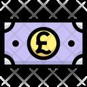 Pound Note Cash Note Icon