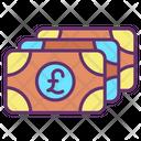 Mcash Notes Pound Notes Pound Cash Icon