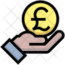 Pound Pay Coin Give Icon