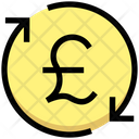 Pound Process Money Rotation Payment Processing Icon