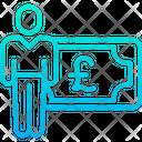 Pound Salary Icon