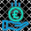 Save Pound Pound Coin Coin Icon