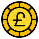 Pound Sterling Coin Currency Icon