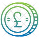 Pound Sterling Cash Coin Icon
