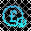 Pound Sterling Devaluation Icon