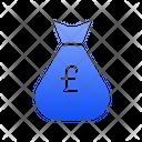 Pound Sterling Money Bag Icon