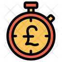 Stopwatch Timer Pound Icon