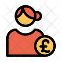 Pound User Pound Profile Female Profile Icon