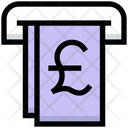 Pound Withdrawal Icon