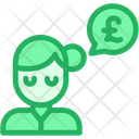 Pound Woman Conversation Icon