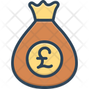 Pounds British Currency Moneybag Icon