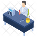 Pouring Chemicals Lab Experiment Laboratory Test Icon