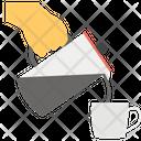 Pouring Coffee Pouring Tea Coffee Time Icon