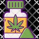 Powder Powder Bottle Drug Icon