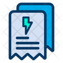 Bills Electricity Receipt Icon