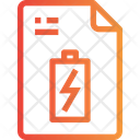 Charge Power File Recharge Icon