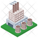 Power Mill Commercial Building Power Plant Icon