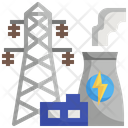 Power Industry Power Plant Industrial Industry Factory Icon