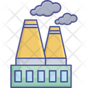 Power Plant Power Station Icon Industrial Plant Icon
