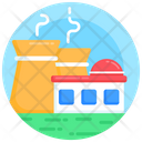 Industry Power Plant Factory Icon