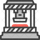 Power Press Press Machine Mass Production Icon