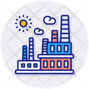 Power Station Building Factory Icon
