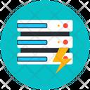 Datacenter Power Dataserver Energy Data Storage Icon