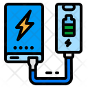 Powerbank Charged Wire Icon