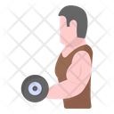 Dumbbell Exercise Powerlifting Workout Icon