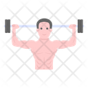 Weightlifter Deadlifter Bodybuilder Icon