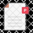 File Powerpoint Presentation Icon