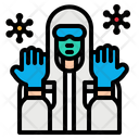Safety Suit Covid Icon