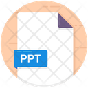 Ppt Ppt File File Format Icon