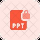 Ppt File Lock Ppt Lock Ppt Icon