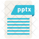 Pptx File Format Icon