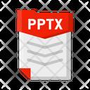 Pptx file Icon