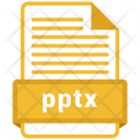 Pptx File Formats Icon