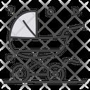 Pram Baby Pushcart Baby Carriage Icon