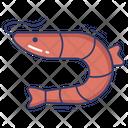 Prawn Shrimp Sea Life Icon