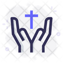 Pray Christian Religion Icon