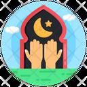 Pray Worship Muslim Obligation Icon