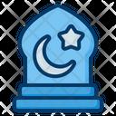 Pray Muslim Night Icon
