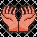 Praying Hands Worship Muslim Obligation Icon