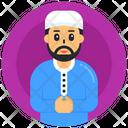 Worship Praying Man Muslim Man Icon
