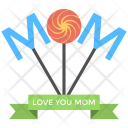 Mom Text Mother Icon