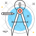 Precision Geometry Compass Icon