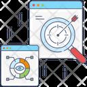 Prediction Model Statistical Data Gain And Loss Icon