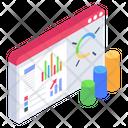 Web Analytics Online Analytics Predictive Analytics Icon