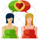 Pregnancy Talk Love Icon